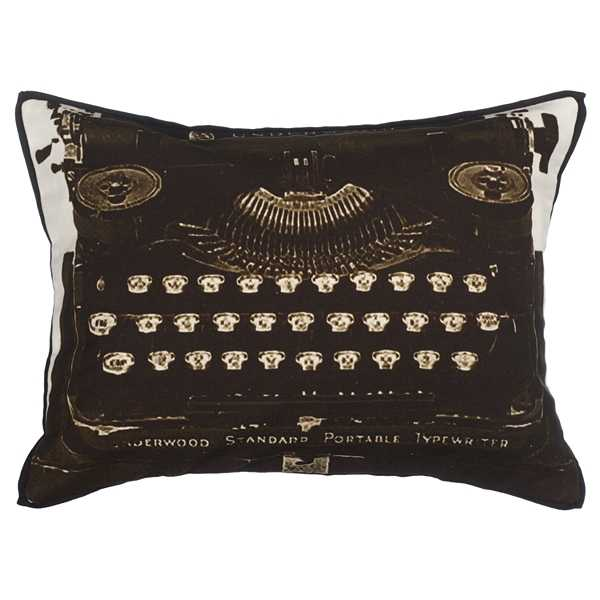Typewriter, Bat, Telephone & Fox Cushions