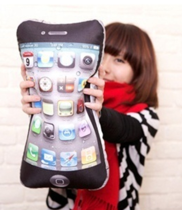 iPhone Cushions- do you love your's enough to sleep with it?
