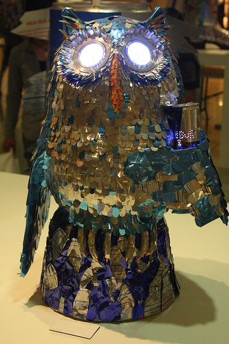 Amazing Sculptures Made from Energy Drink Cans