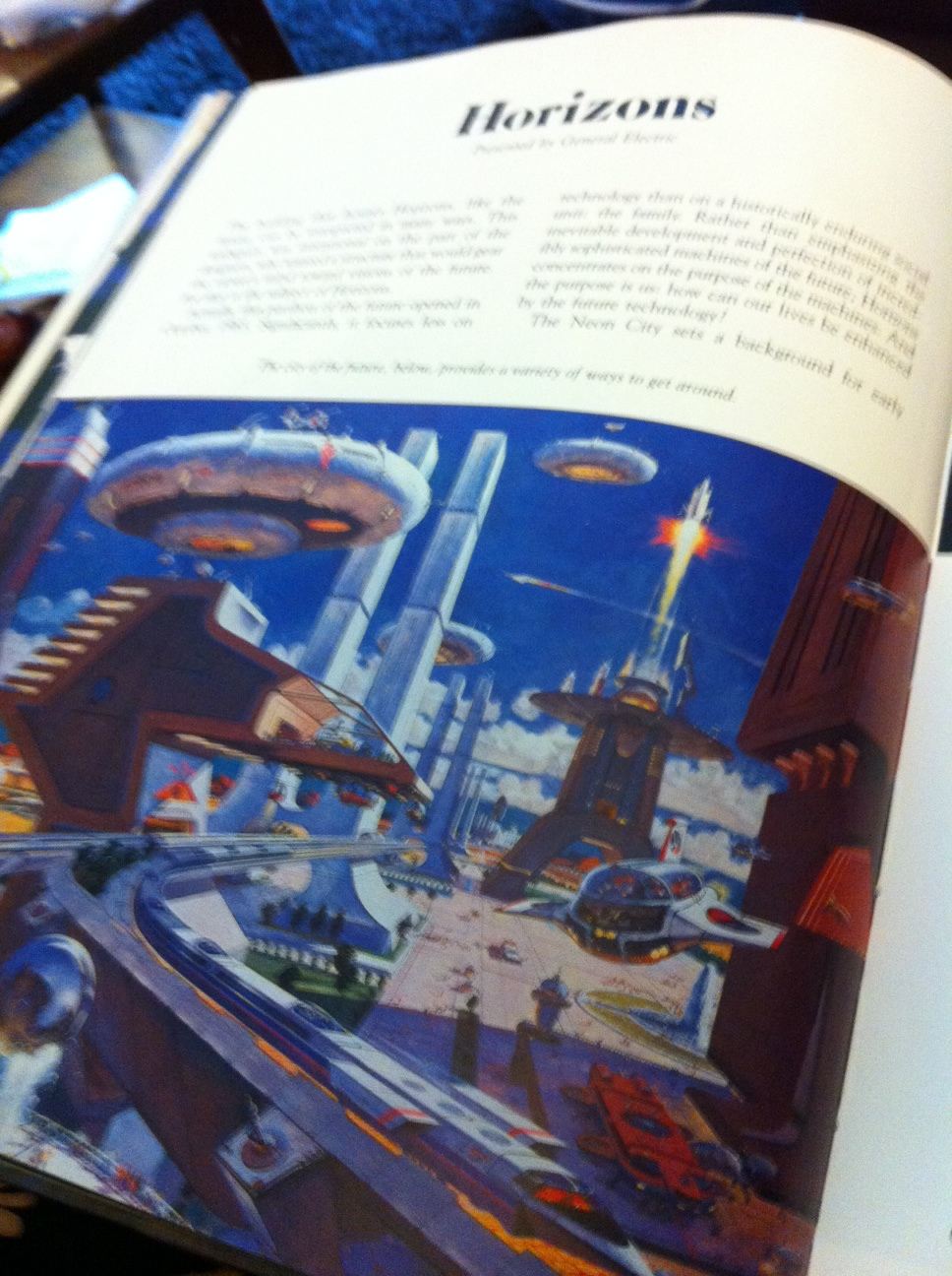 1982 EPCOT Creating the New World of Tomorrow Book