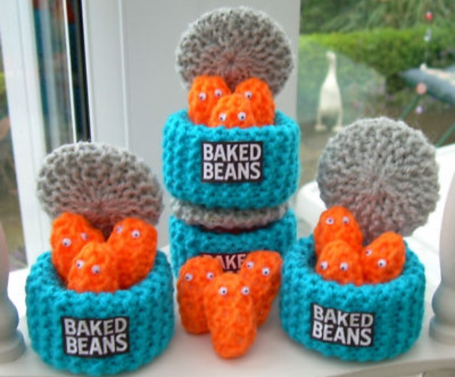 Hand-knitted Food