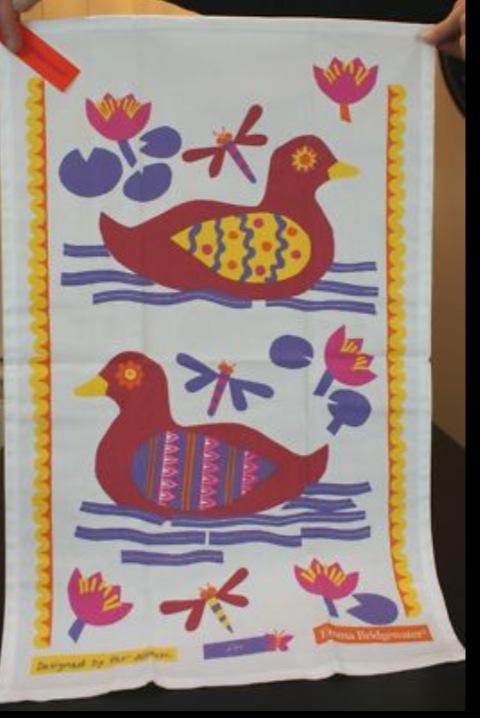 Striking 1960's Print Tea Towels