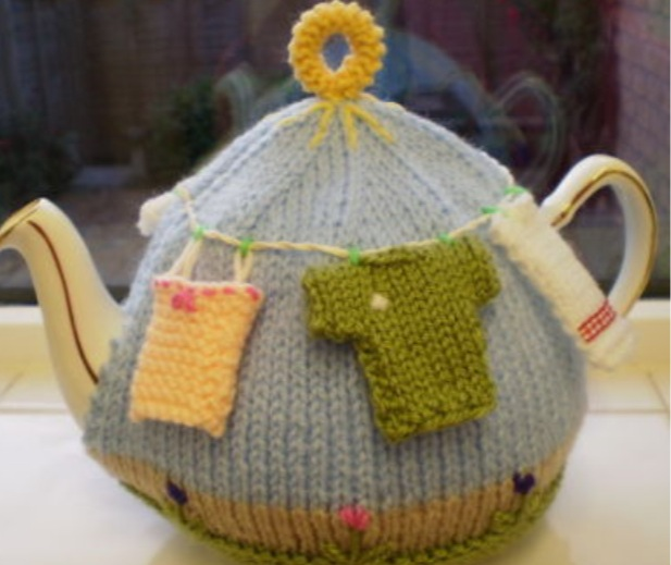 Unusual Hand Knitted Tea Cosy part 2