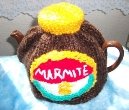 Crazy Hand-Knitted Tea Cosies
