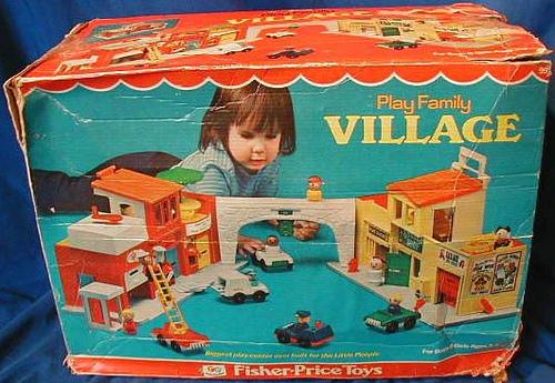 Vintage Fisher Price Little People Village