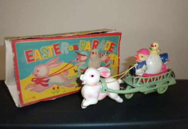 EASTER KITSCH WEEK - Rabbit Chariot
