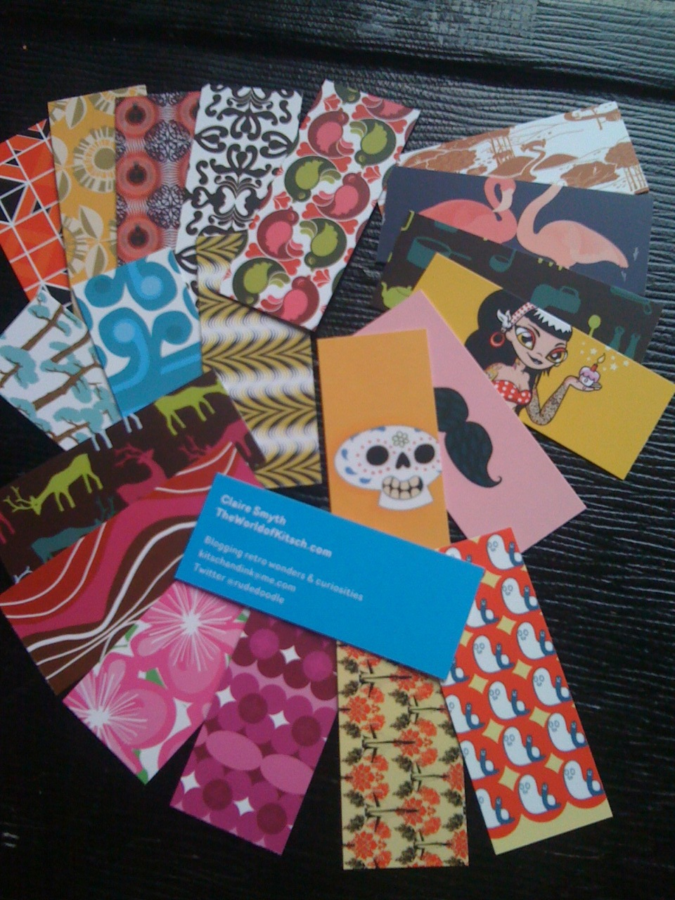 More Kitsch Business Cards & 20% off for TheWorldofKitsch readers at Moo Cards