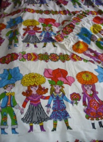 Nightmarish Flower Child 1970's Curtains