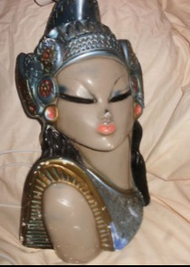 Tretchikoff Era Exotic Lady Lamp Bases