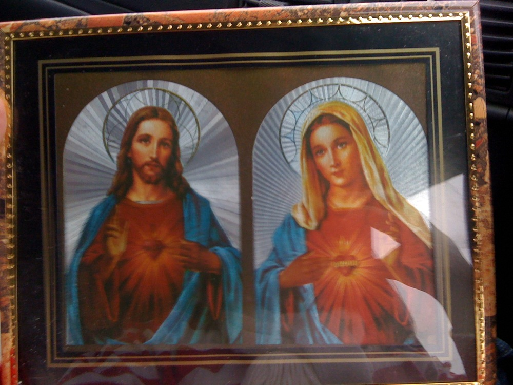 Glorious Shiny Foil Religious Kitsch Pictures