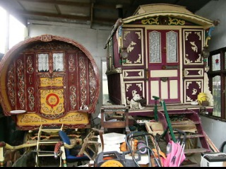 Kitsch but Beautiful Gypsy Wagons