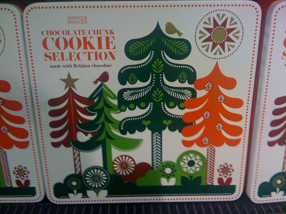 Wonderful, Whimsical Marks & Spencer Christmas tins 2010