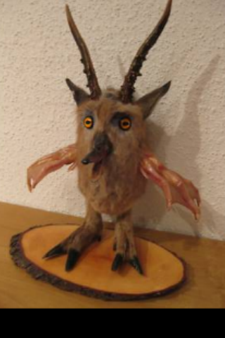 Taxidermied Wolpertinger