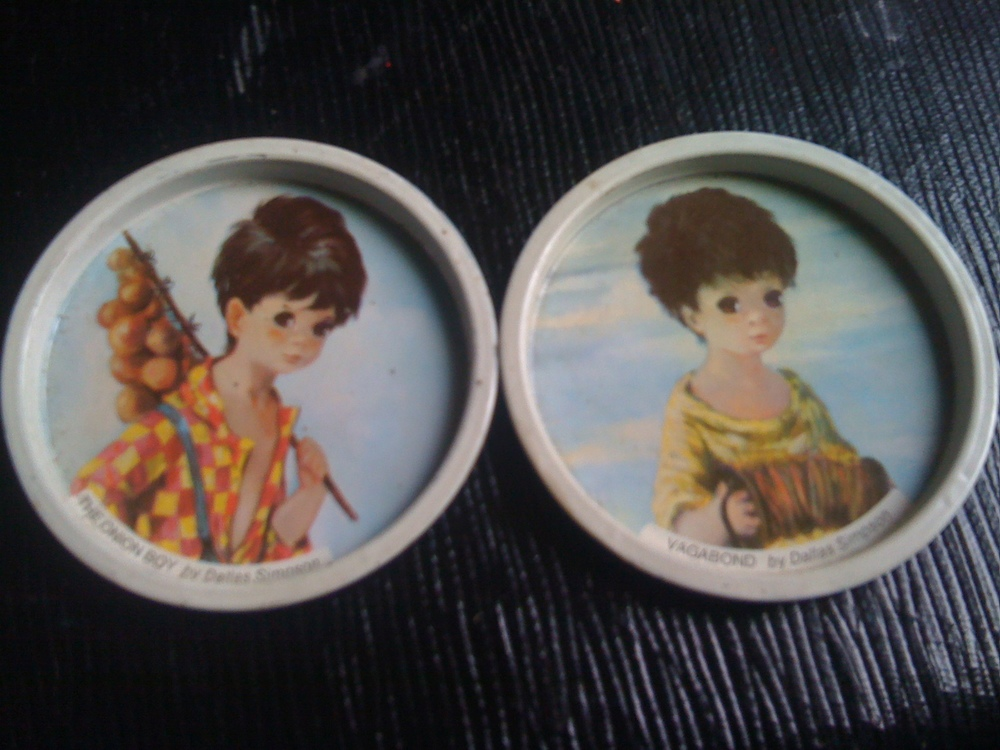 Creepily Small, Creepy Children Coasters by Dallas Simpson