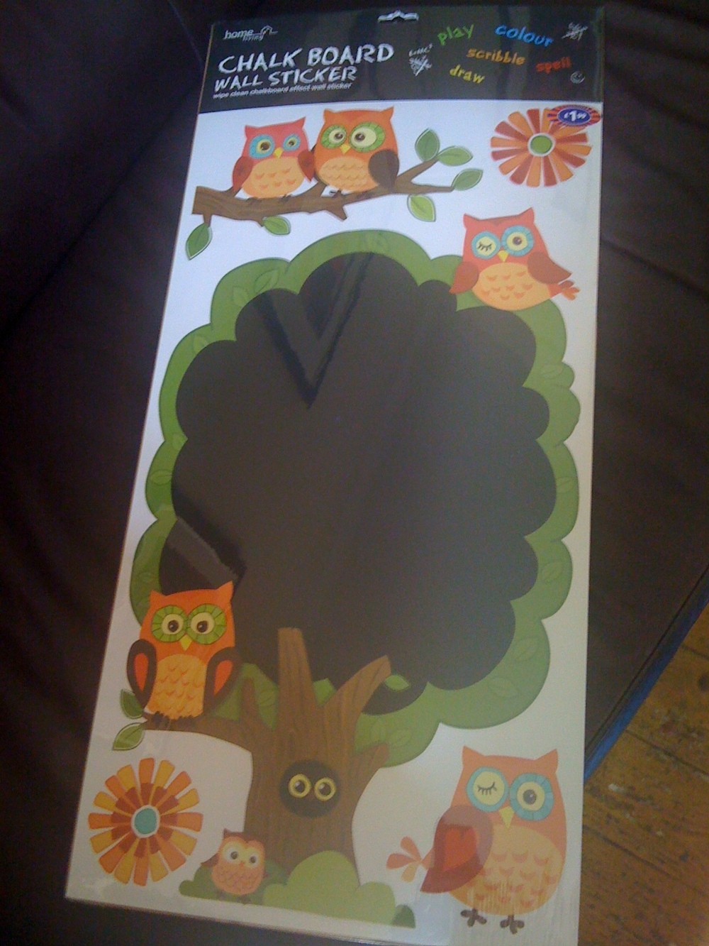 Twee Owl Chalk Board Stickers
