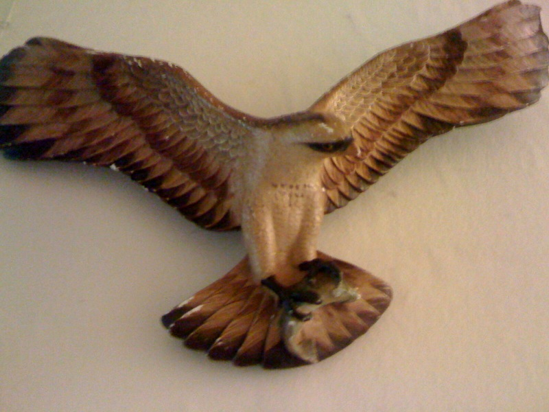 Ceramic Eagle catching a Fish Wall Plaque