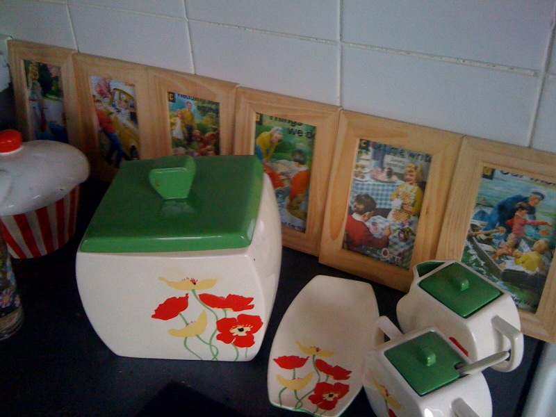 Vintage Ladybird Book Covers used as Kitchen Border