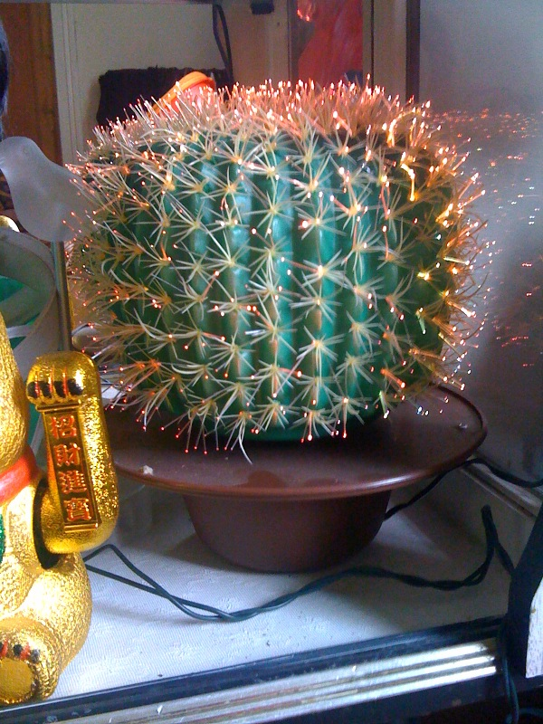 Cactii Kitsch 1 Fiber Optic Cactus Lamp The World Of Kitsch