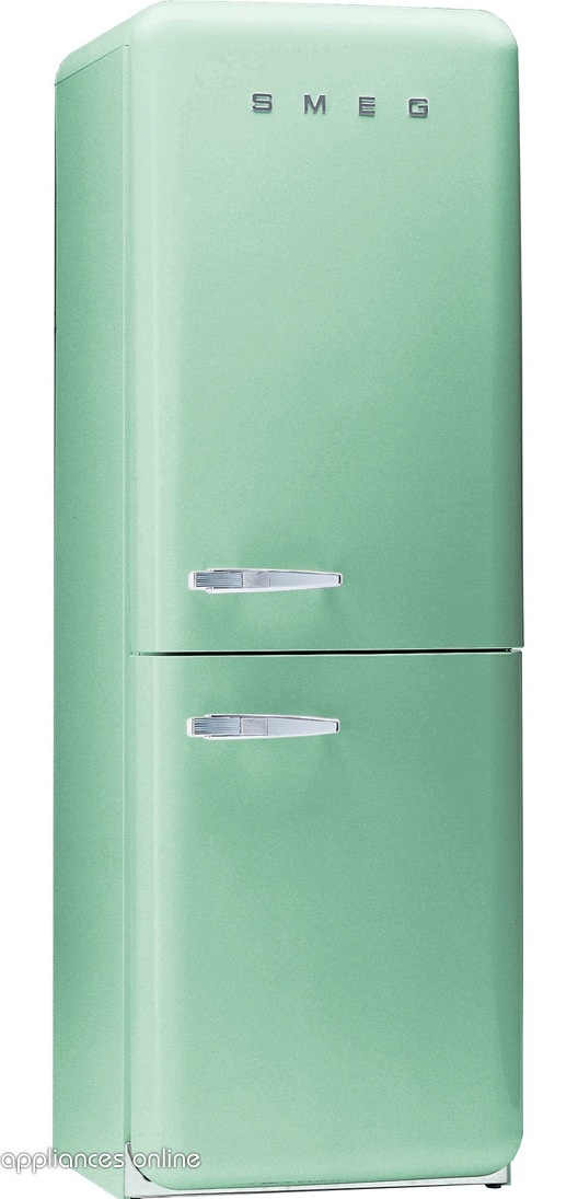The classic mint green Smeg fridge, a beauty.