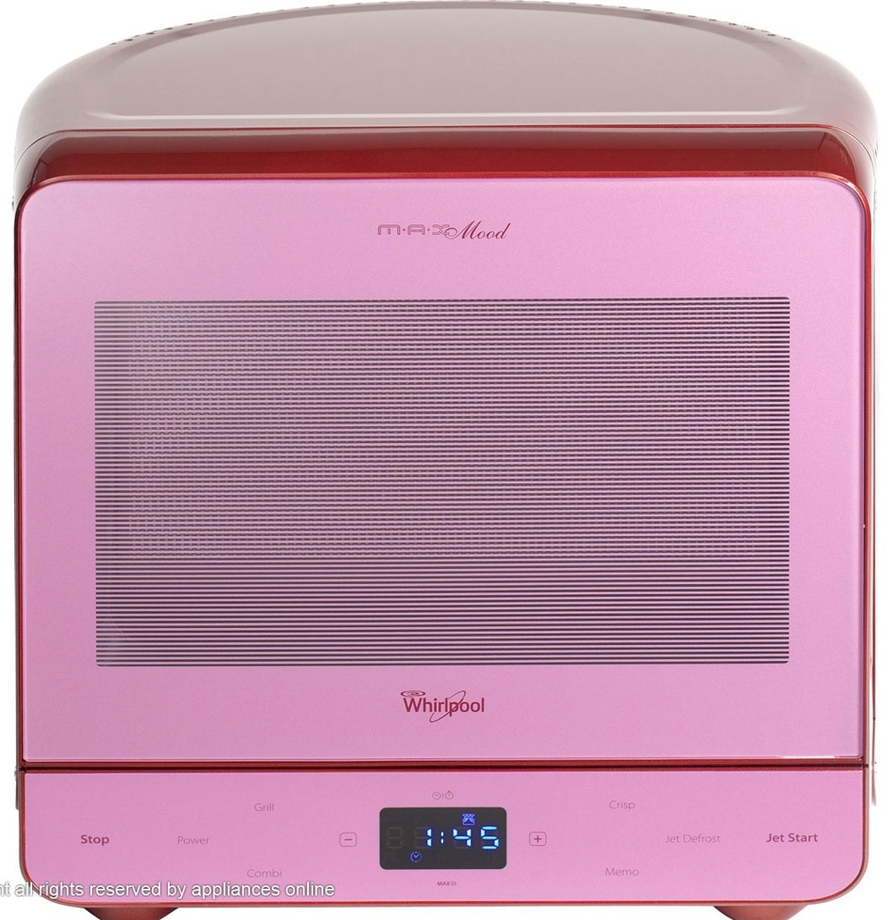 Whirlpool microwave. Suddenly my white basic one seems redundant. I need this.