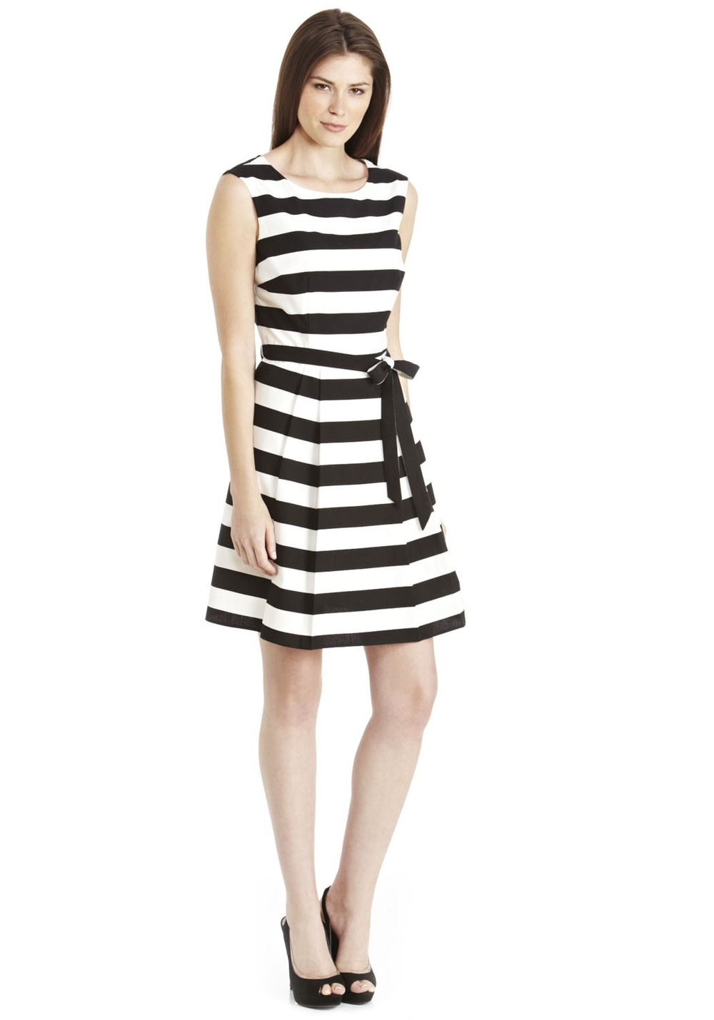 Horizontal stripe prom dress £25, very Beetlejuicey