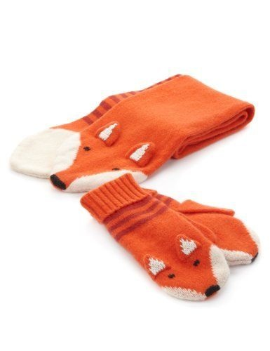This cashmere fox and mittens set has officially gone  on my Christmas list £30