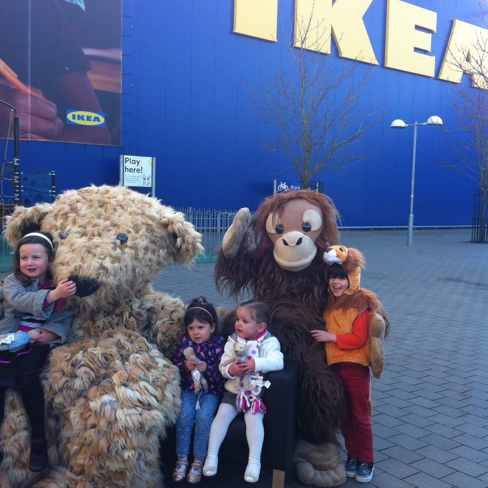 we even got to meet the giant teddy from the ikea advert