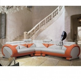 If that is too much orange for you, how about a splash of colour along with sleek white leather for £1,399