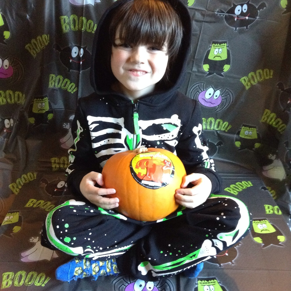 Skeleton hooded onesie, price varies by age starts at £19 - pumpkin £2.00