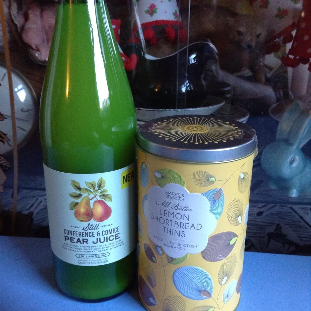 £2.50 pear juice, £3 tin