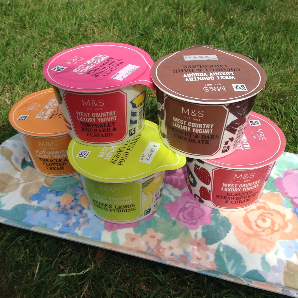 West Country yoghurts 80p each or five for £3