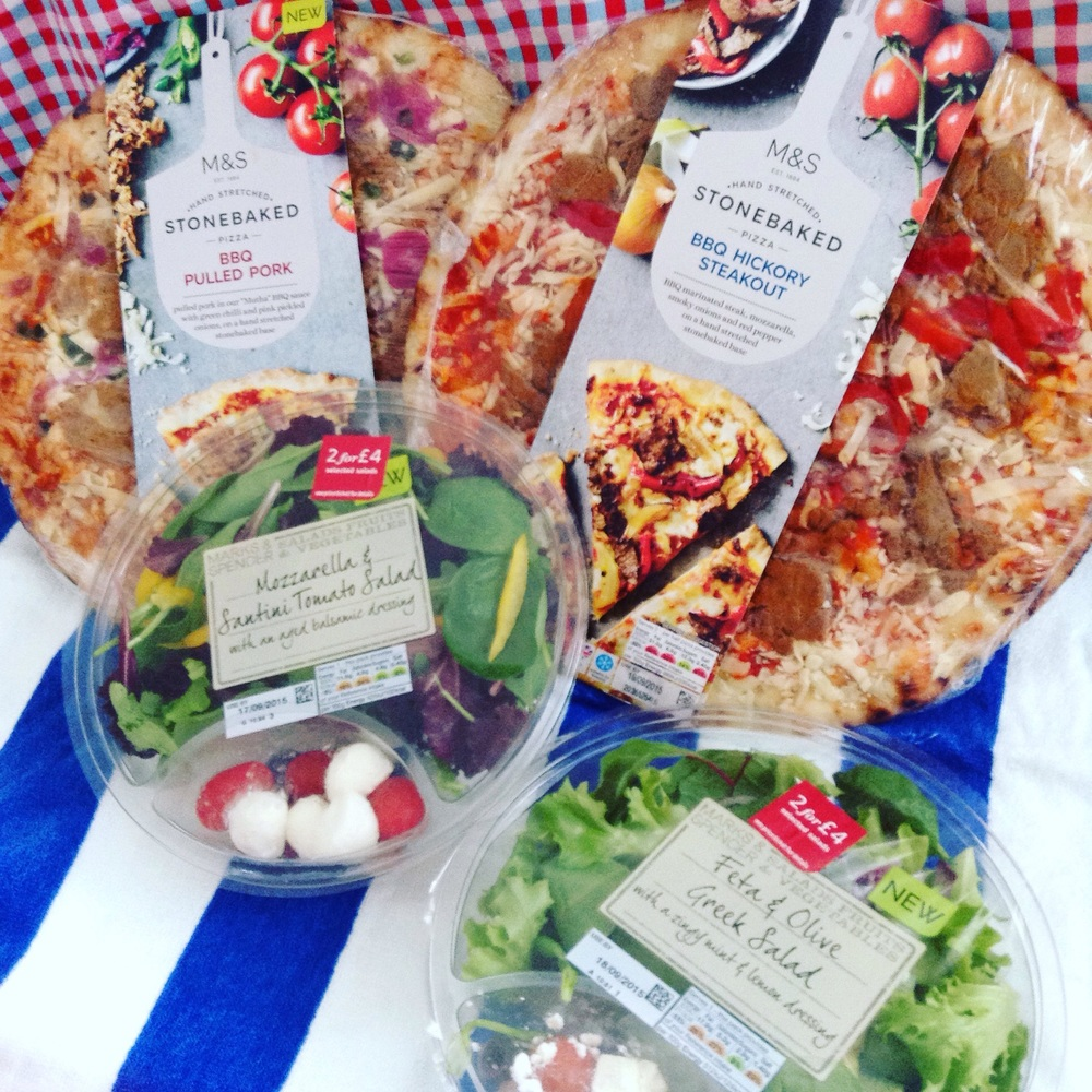 Pizzas £4 each : Salads two for £4