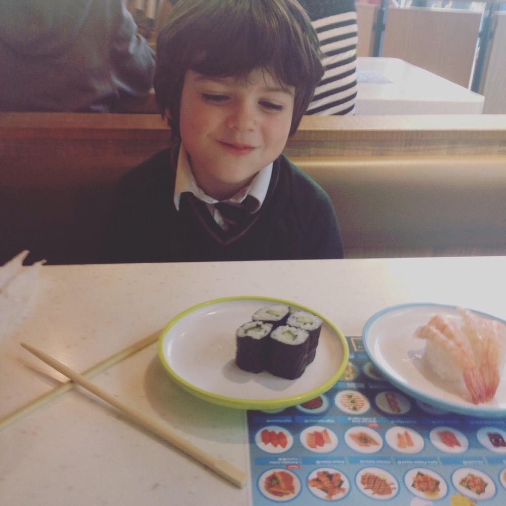 Yo Sushi did a random Blue Thursday, so we called in