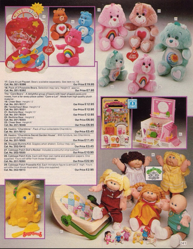 Care Bears, Cabbage Patch Kids