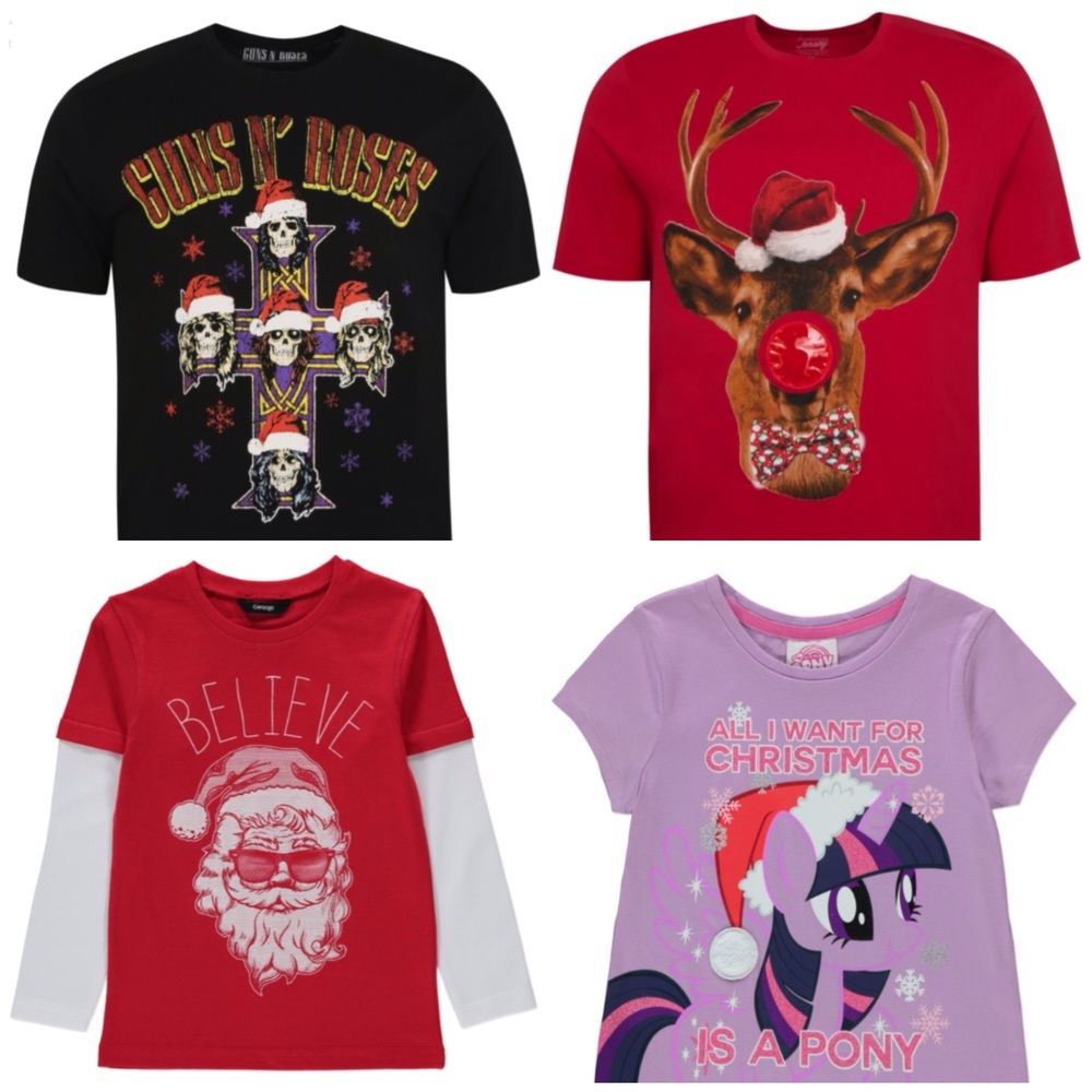 Christmas tees for absolutely everyone, even your hipster uncle who likes Guns N Roses ironically