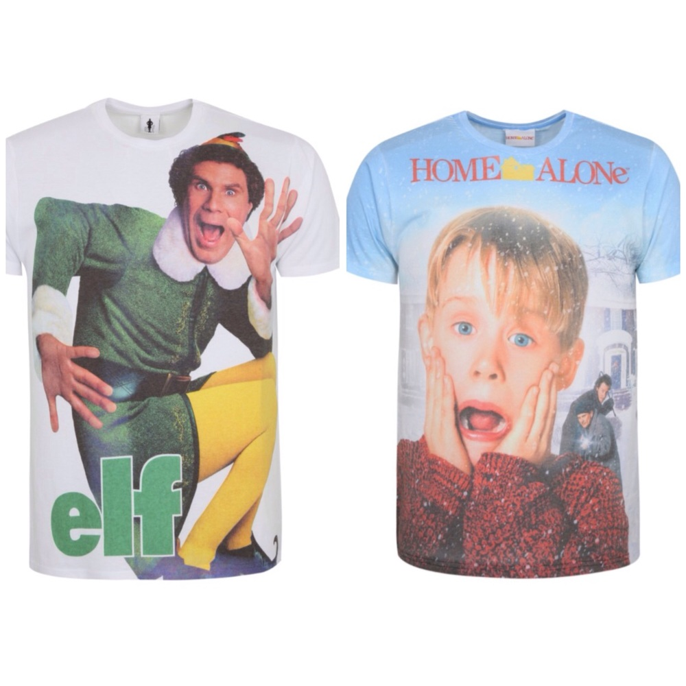 Home Alone And Elf Christmas T-shirts! Deck The Halls