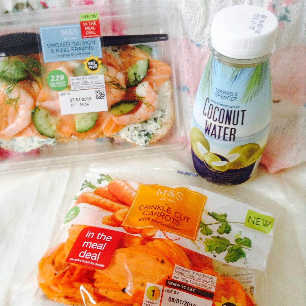 Smoked salmon and prawn. How cool are these carrot crisps?