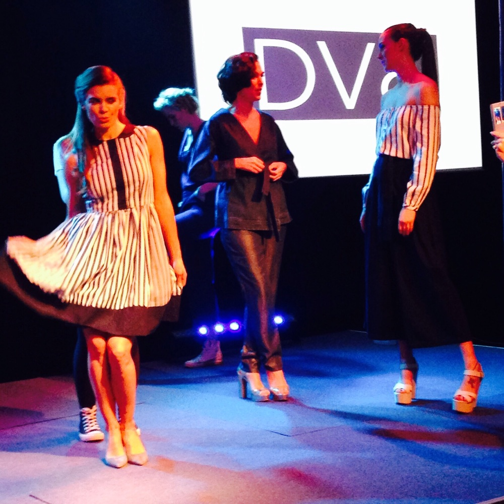 Former Miss NI absolutely rocking local designer Nor Lisa striped dress