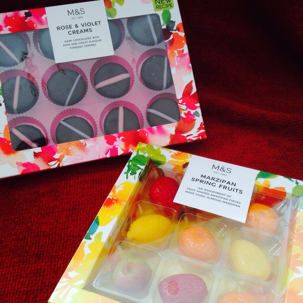 Rose & Violet £4 : Marzipan Fruits £4