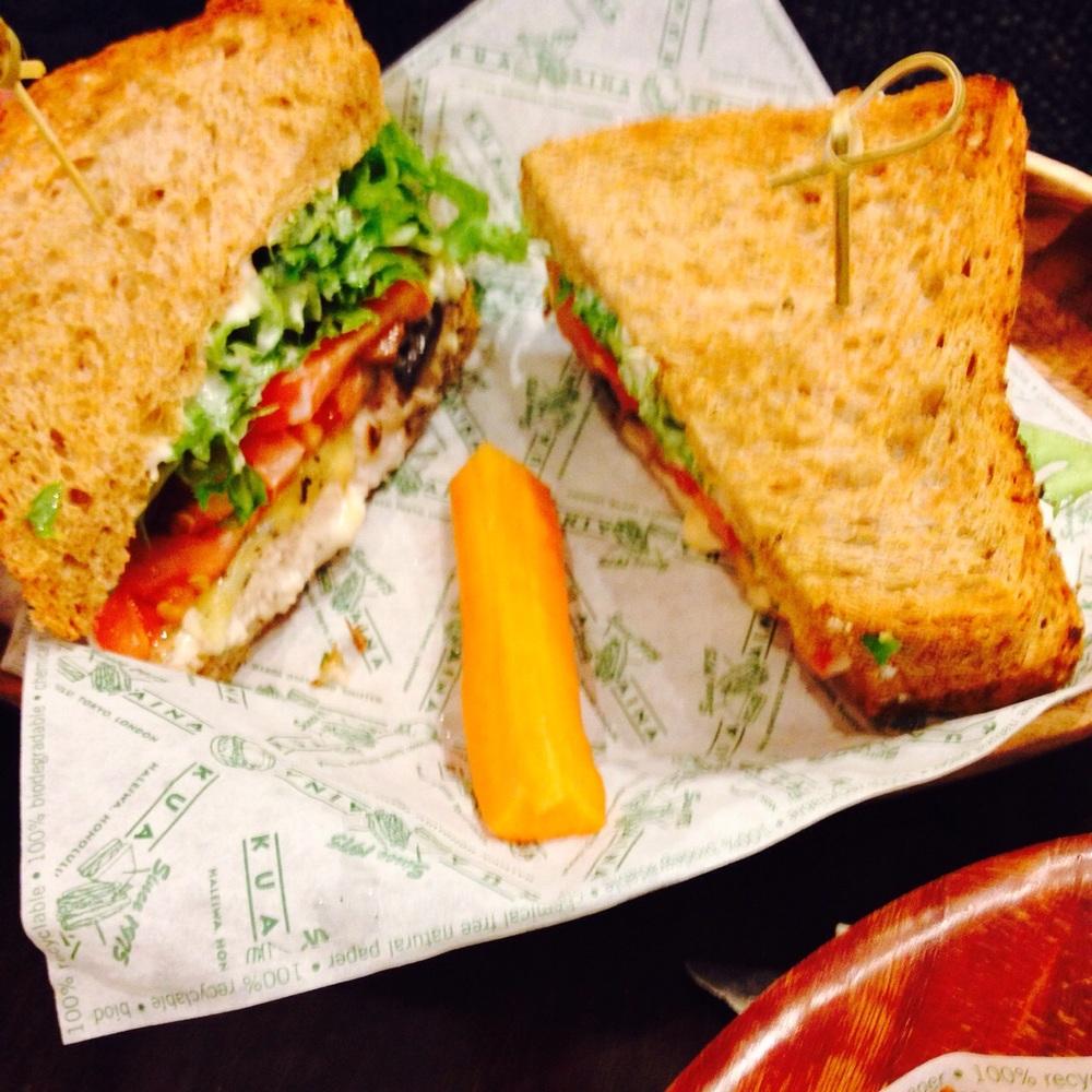 Mahi Mahi fish sandwich.