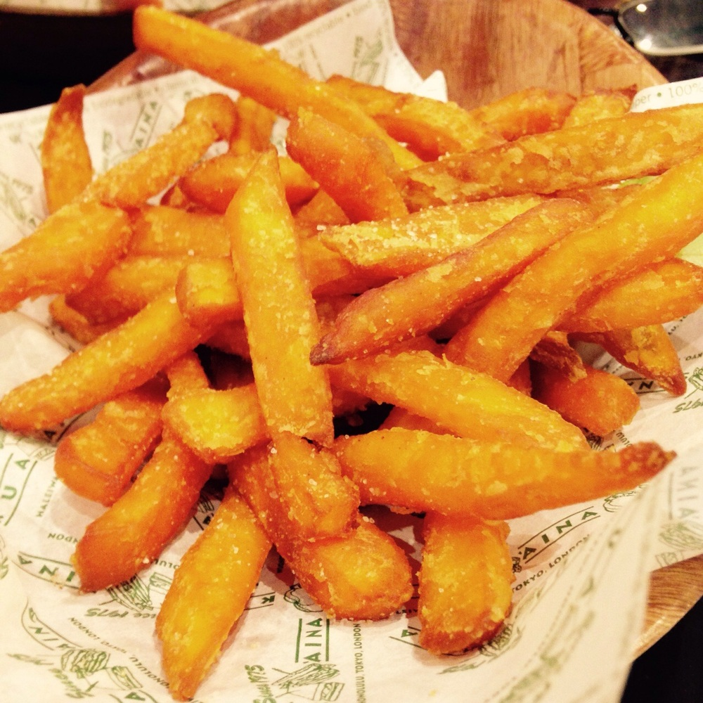 Sweet potato fries (portion is bigger than it appears here!)