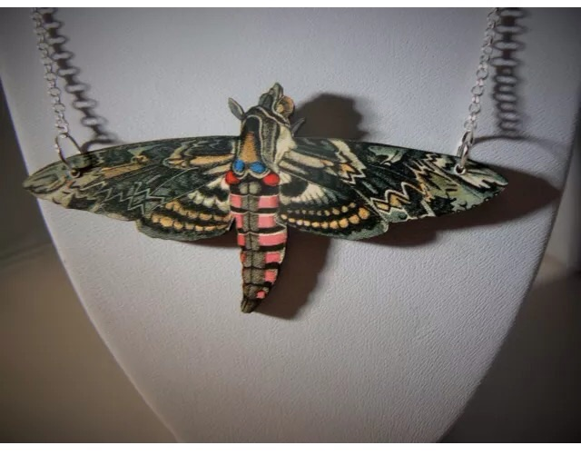 Her beautiful moths have been brought through to the spring collection. I own a brooch similar to this.
