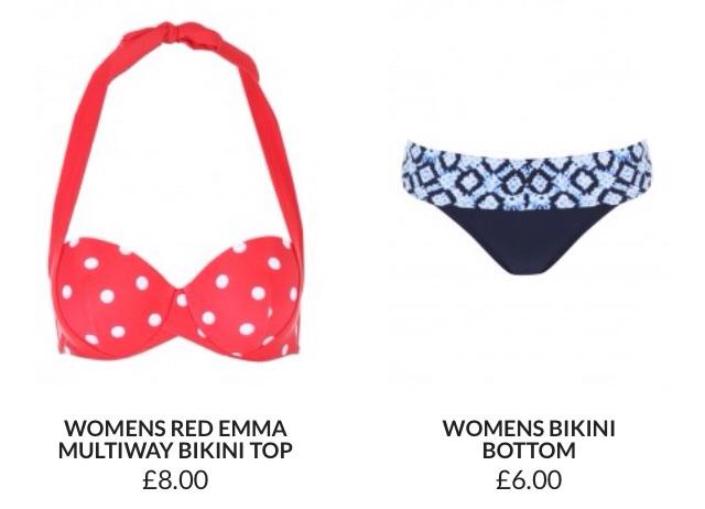 Retro dottiness in a bikini too