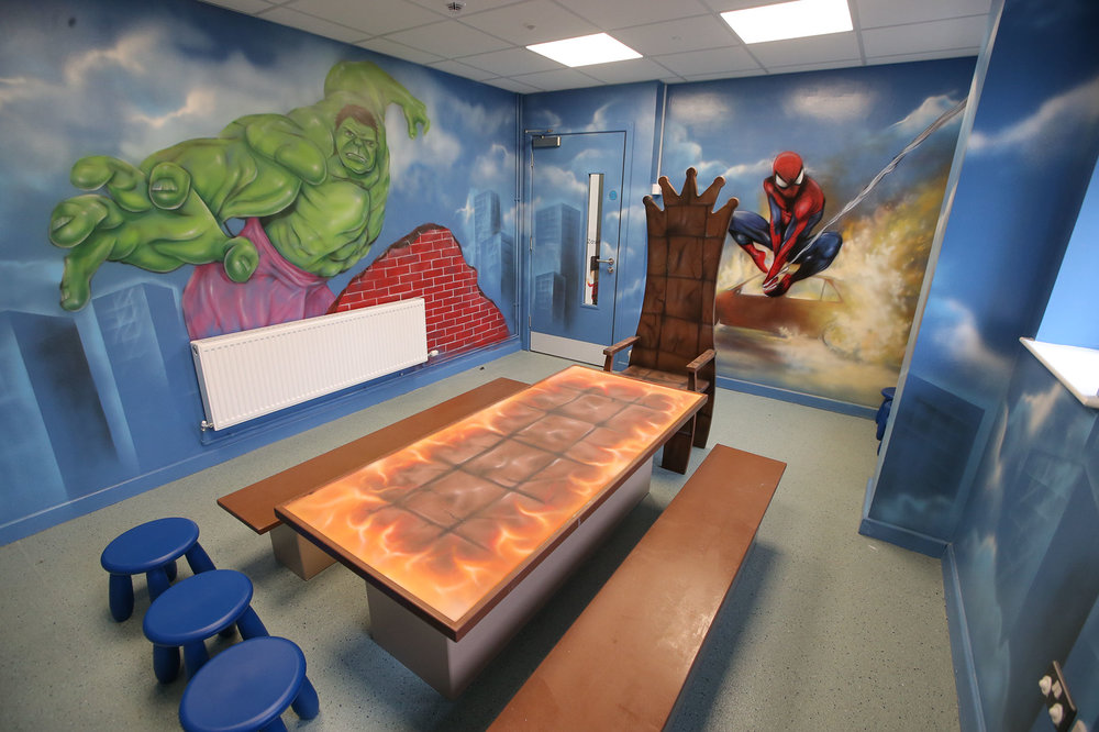 Superhero party room