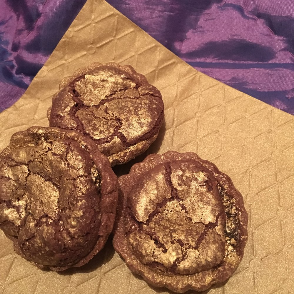 Chocolate orange brownie tarts