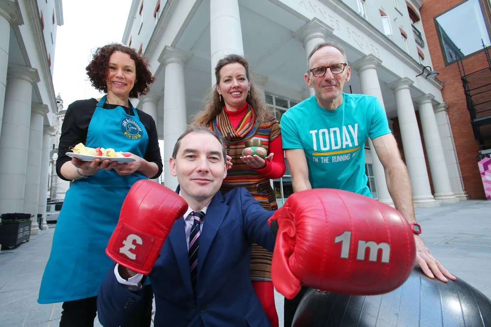 Pictured: Michael McCormack, managing director, Musgrave NI with Centra Live Well ambassadors, Jane McClenaghan (nutrition); Bridgeen Rea (mindfulness) and Johnny Davis (RunTogether).