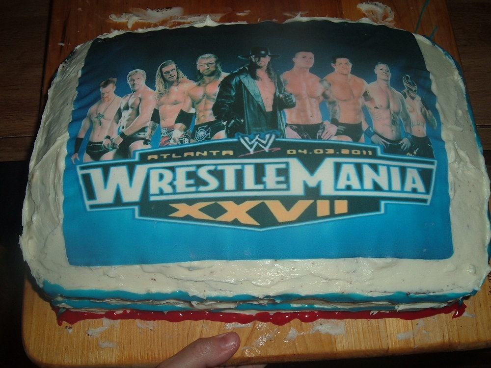 Its Wrestlemania Have You Got Your Cake Ready The World Of Kitsch