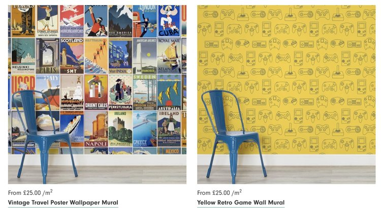 Retro Gaming Wallpaper Other Affordable Fun Wall Murals The
