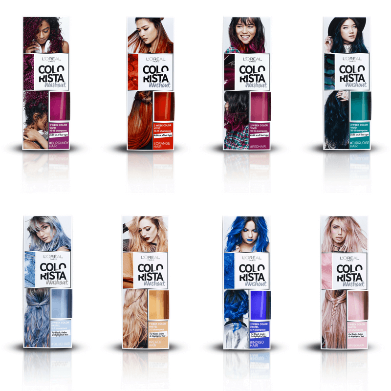 Hair color spray blue