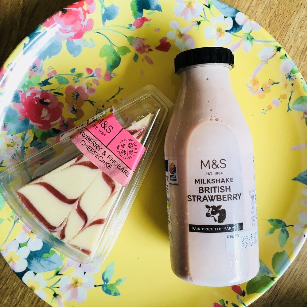 Cheesecake £1.80 : Milkshake £1.30